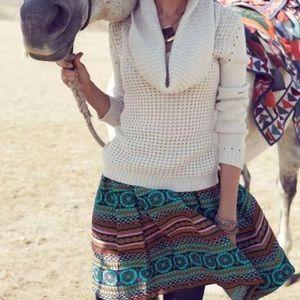 Anthro Morgan Carper Nomad Boho skirt